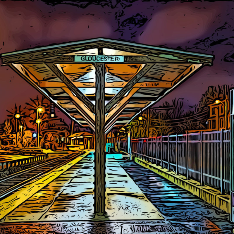 Gloucester train station 16x24 yl44az
