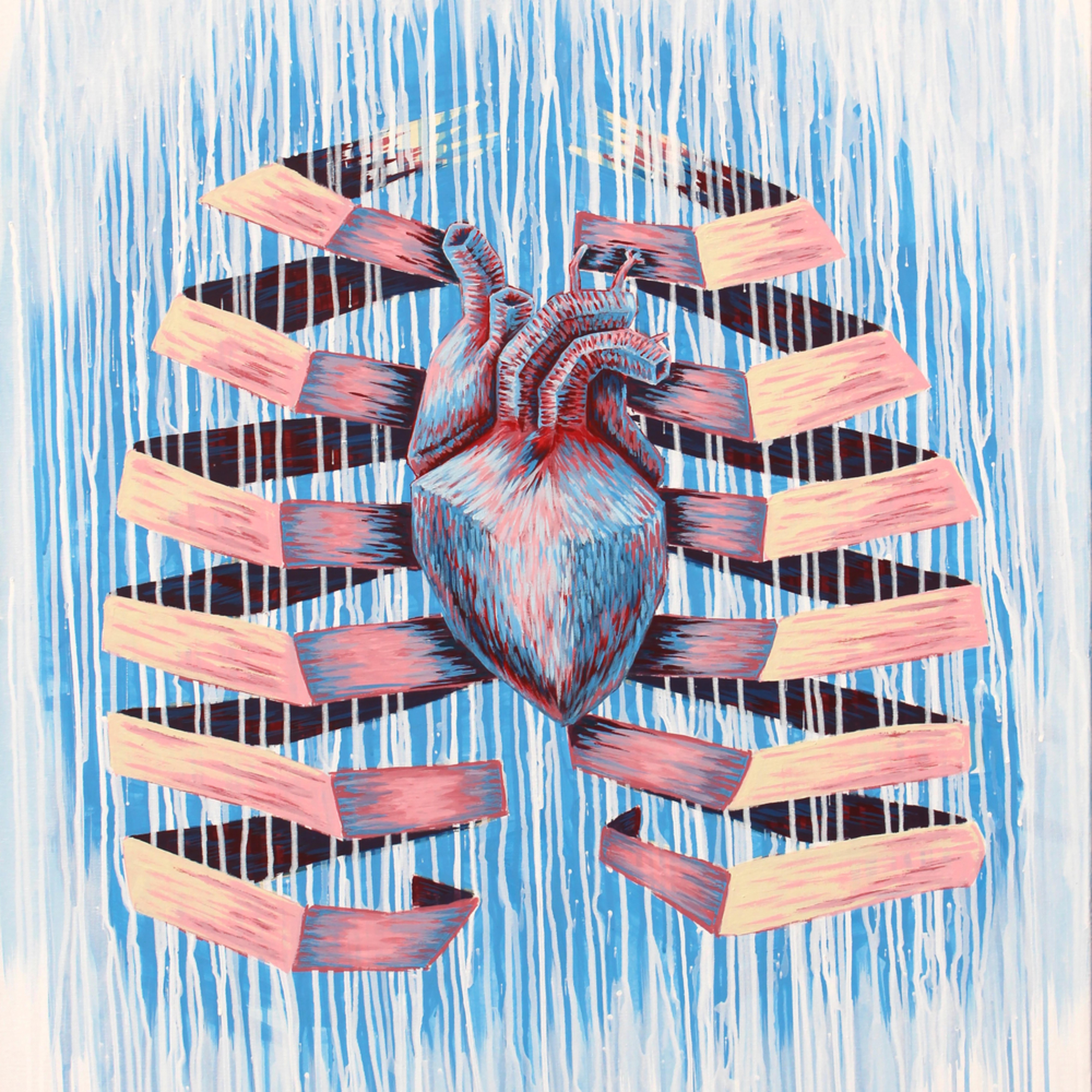 Frozen heart paper lungs large b1h40c
