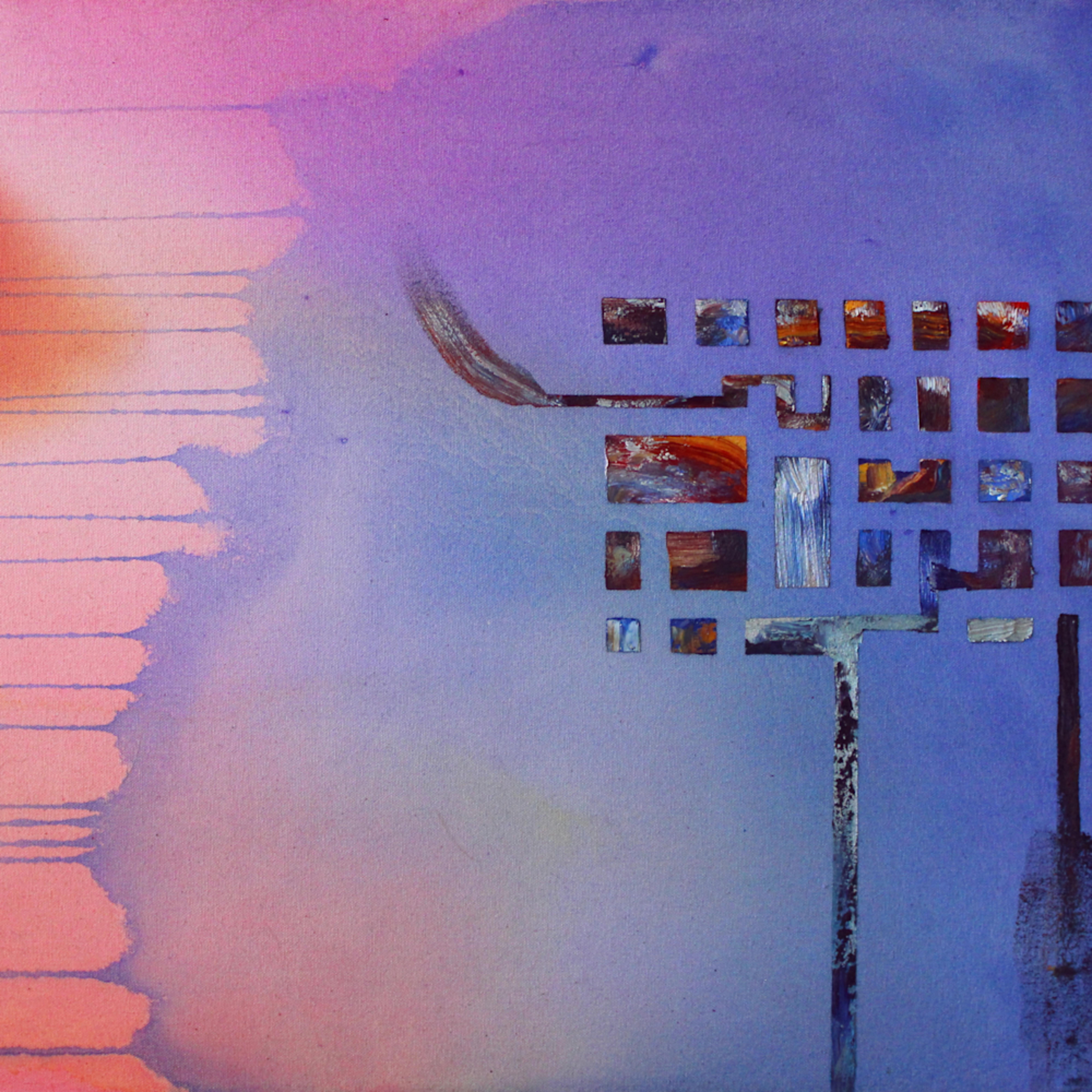Arcology abstract painting michael serafino wet paint nyc xxmbpe