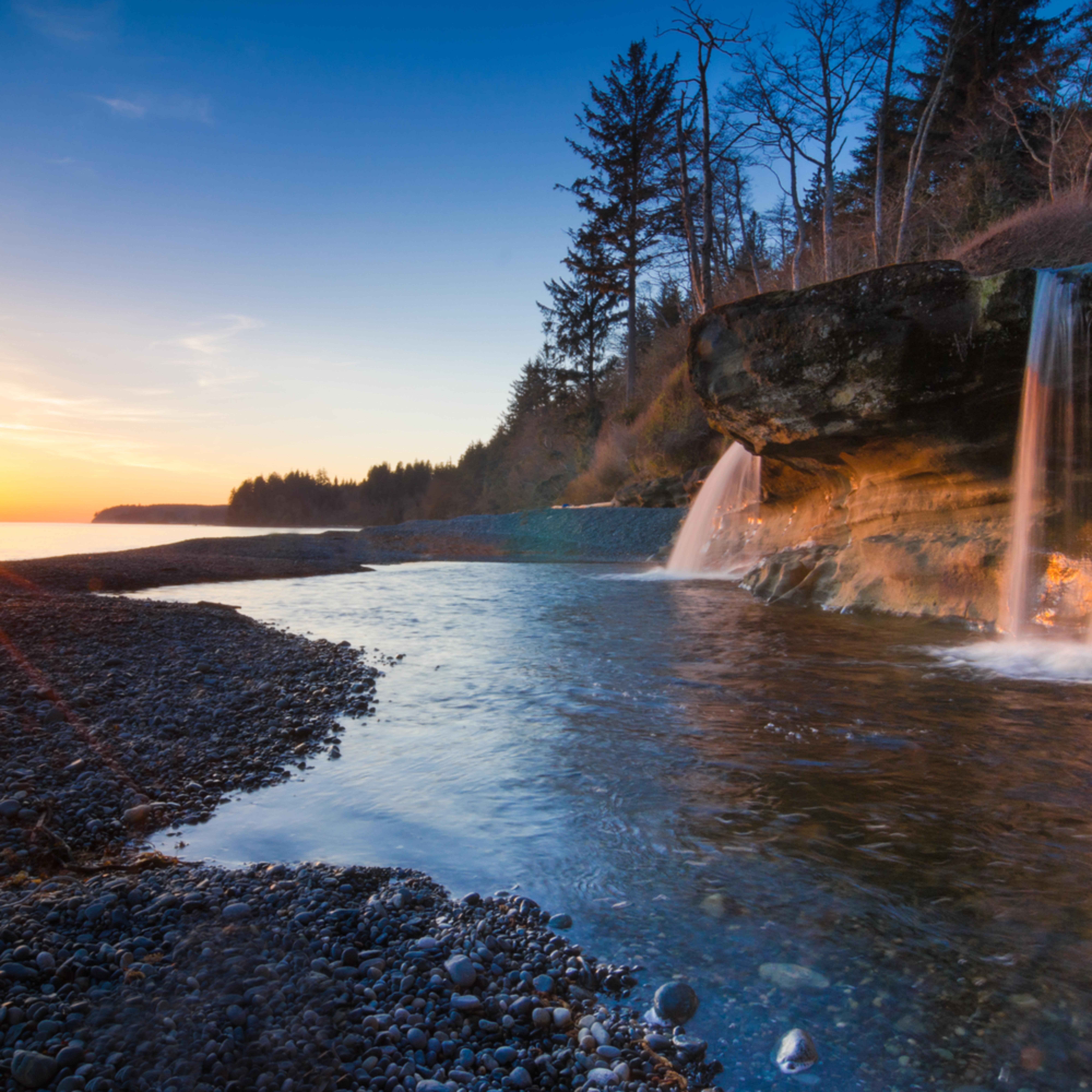 Sandcut beach waterfall sunset heather k jones n8vais