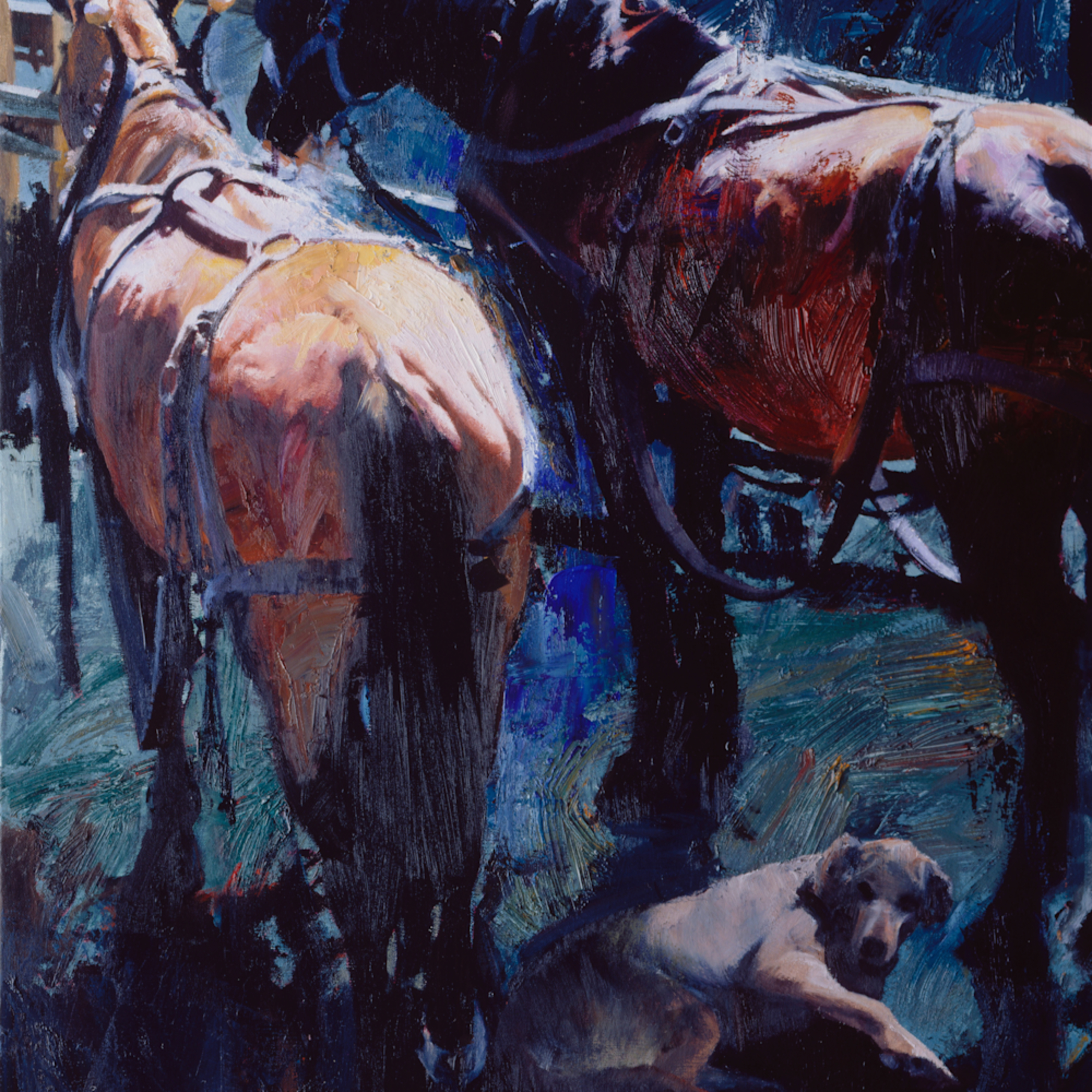 Fotor.draft horses and dog exc2el