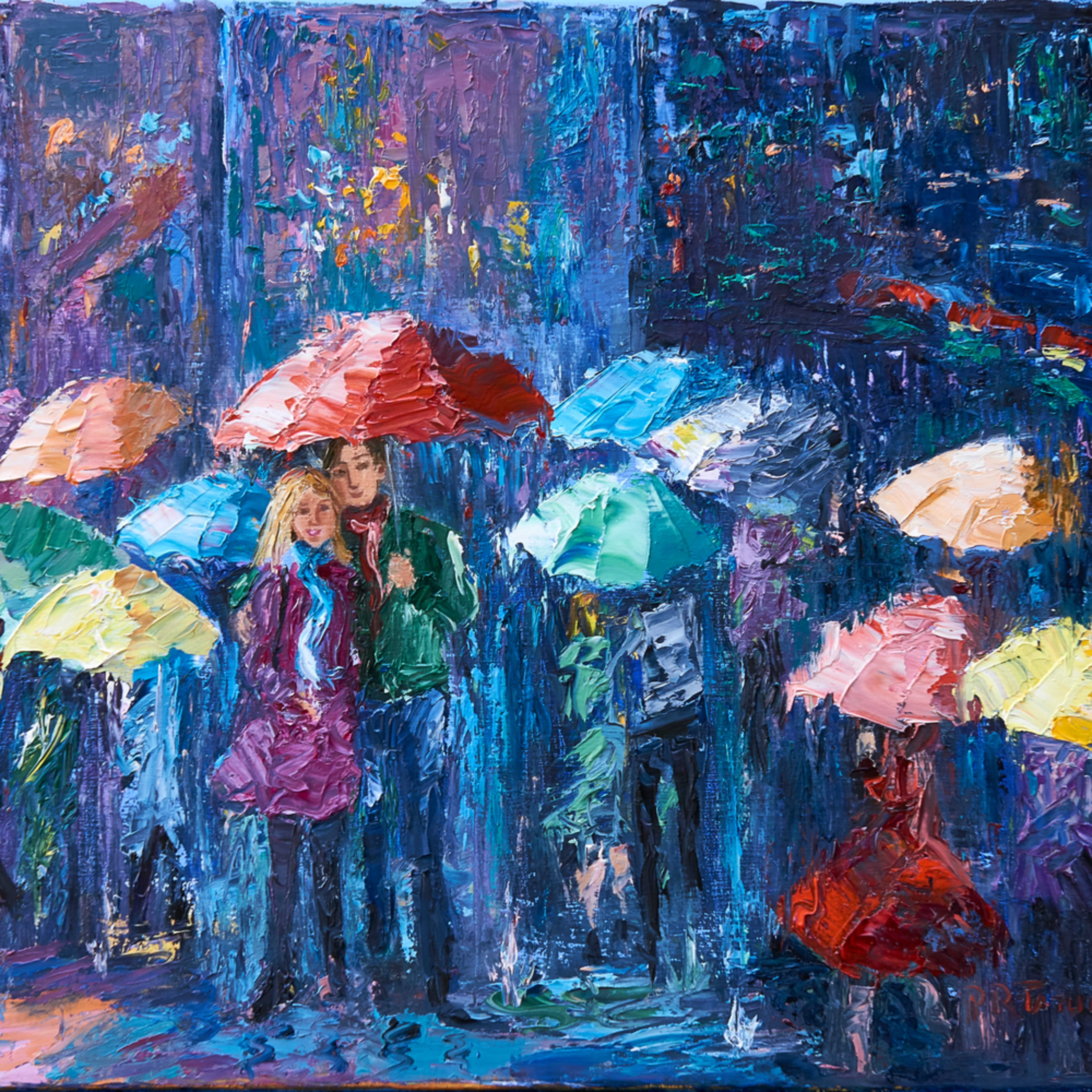 Lovers walk in paris rain iii glhlof