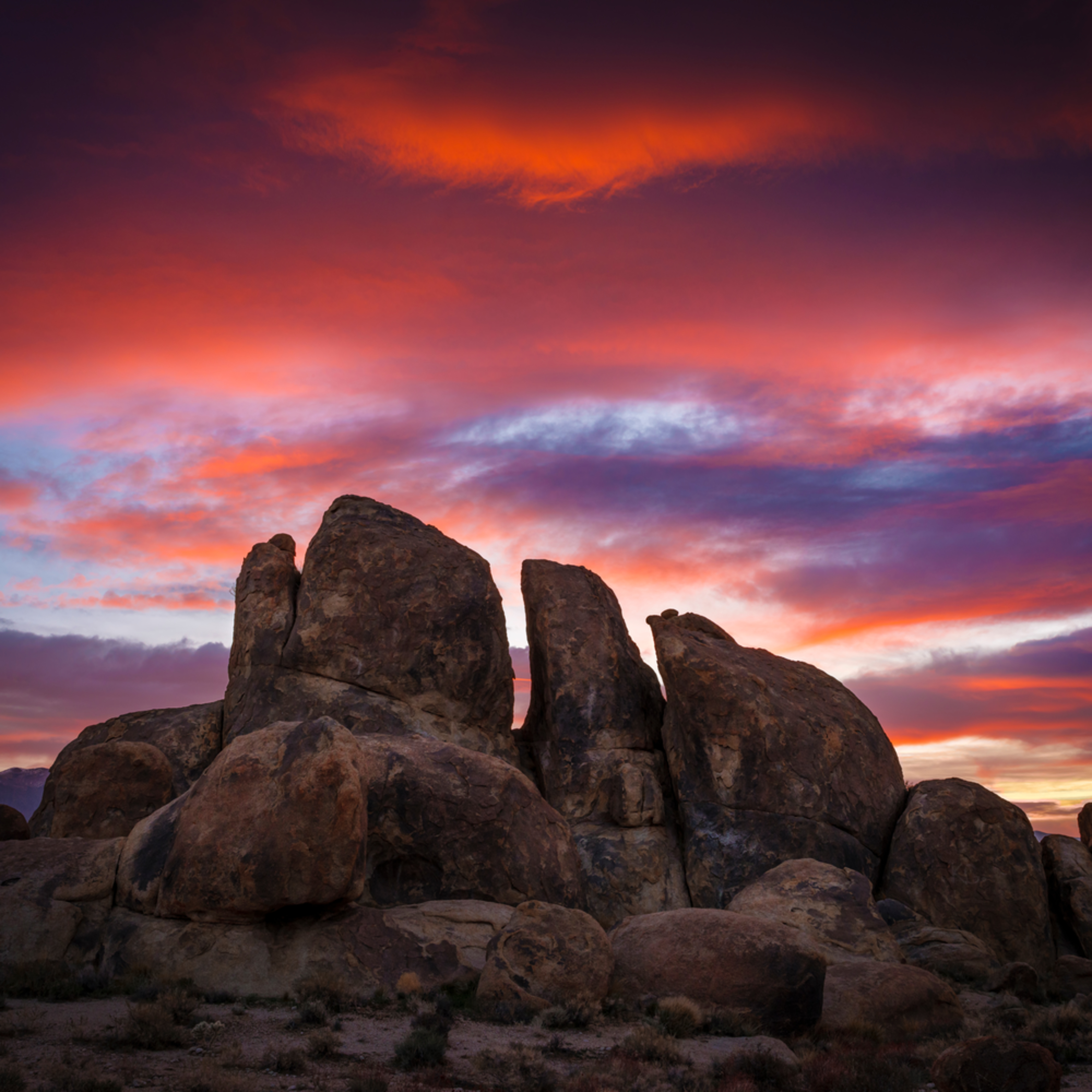 Alabama hills sunrise lbisda