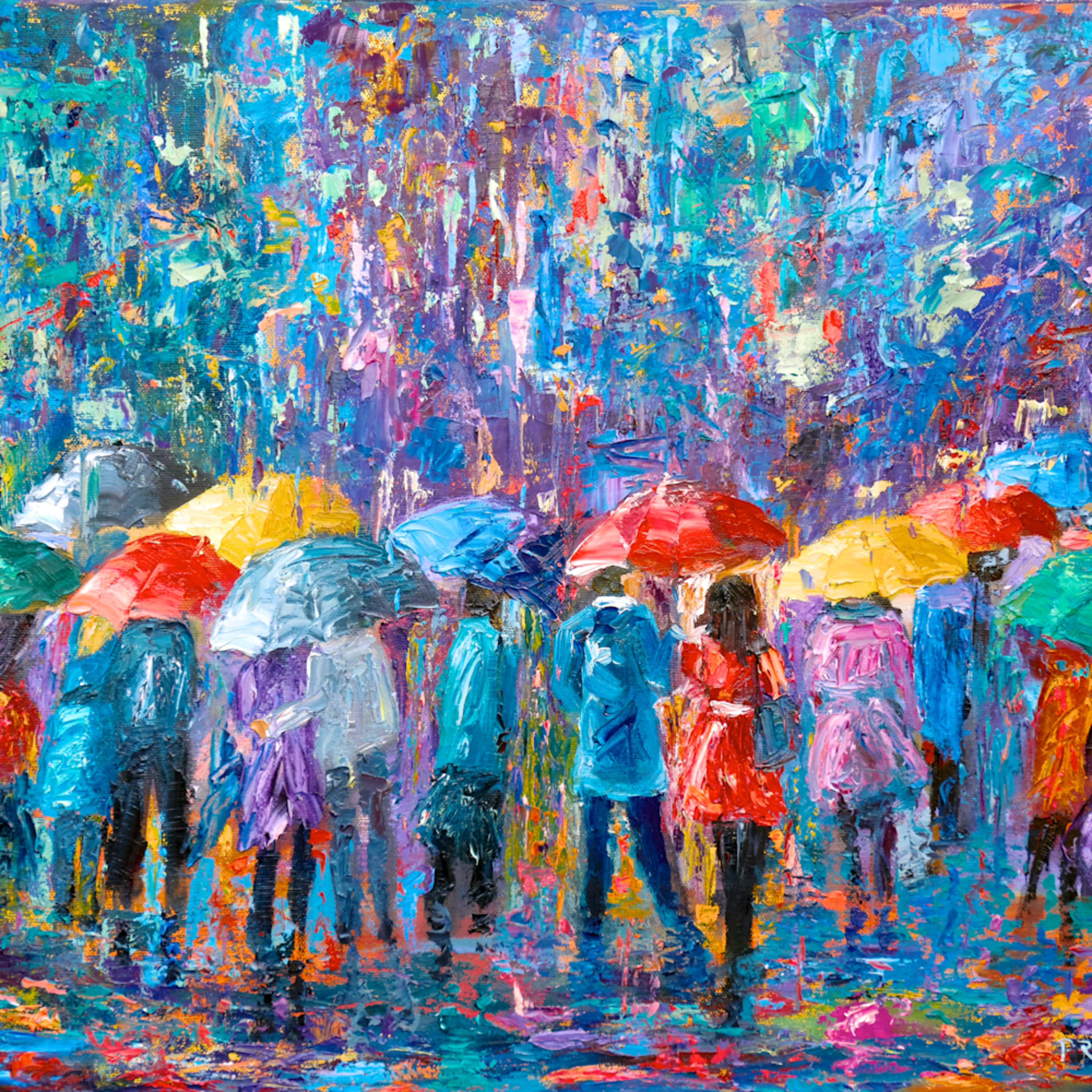 Lovers walk in city rain v 814 kwl6i6