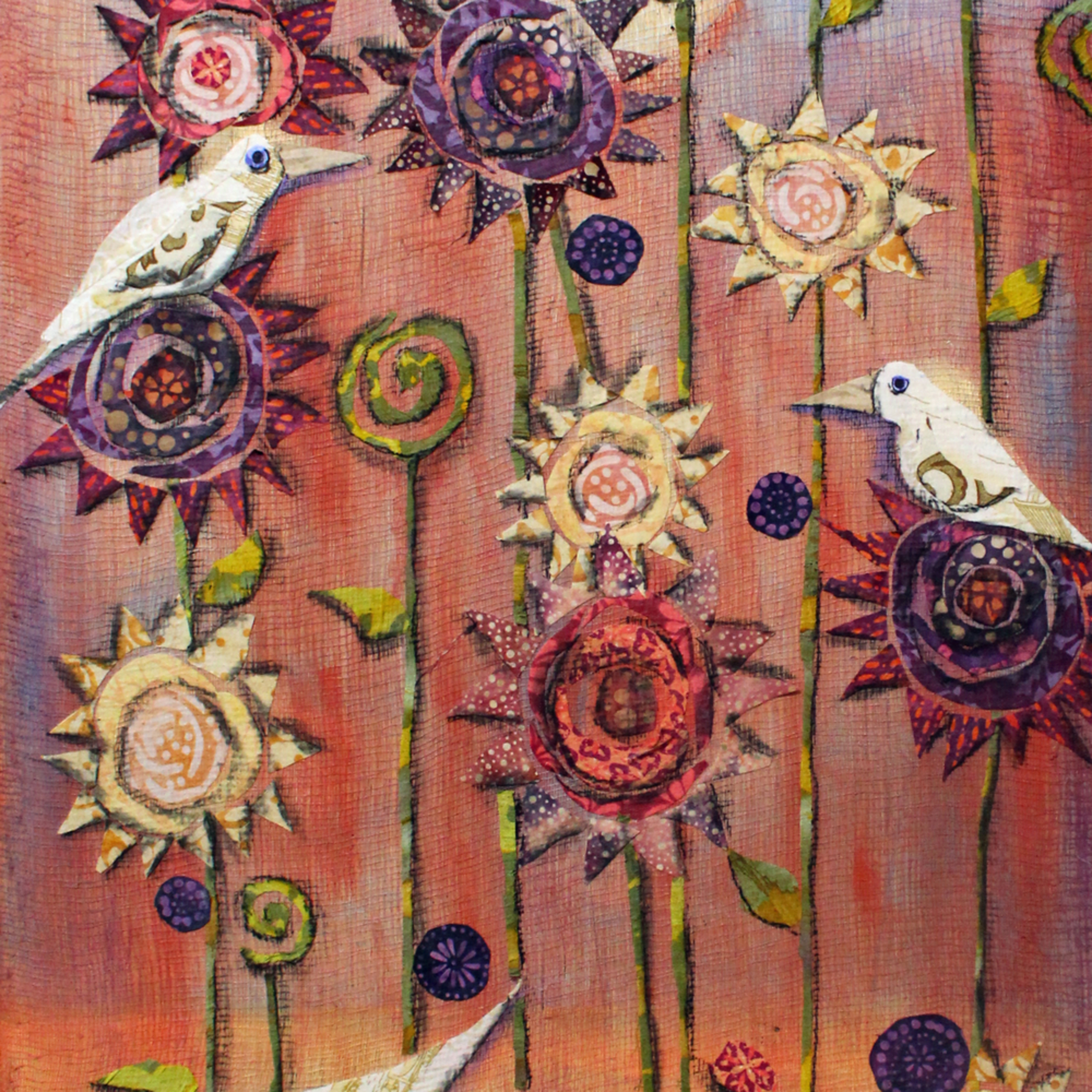 Feathers and flowers print gmiyll