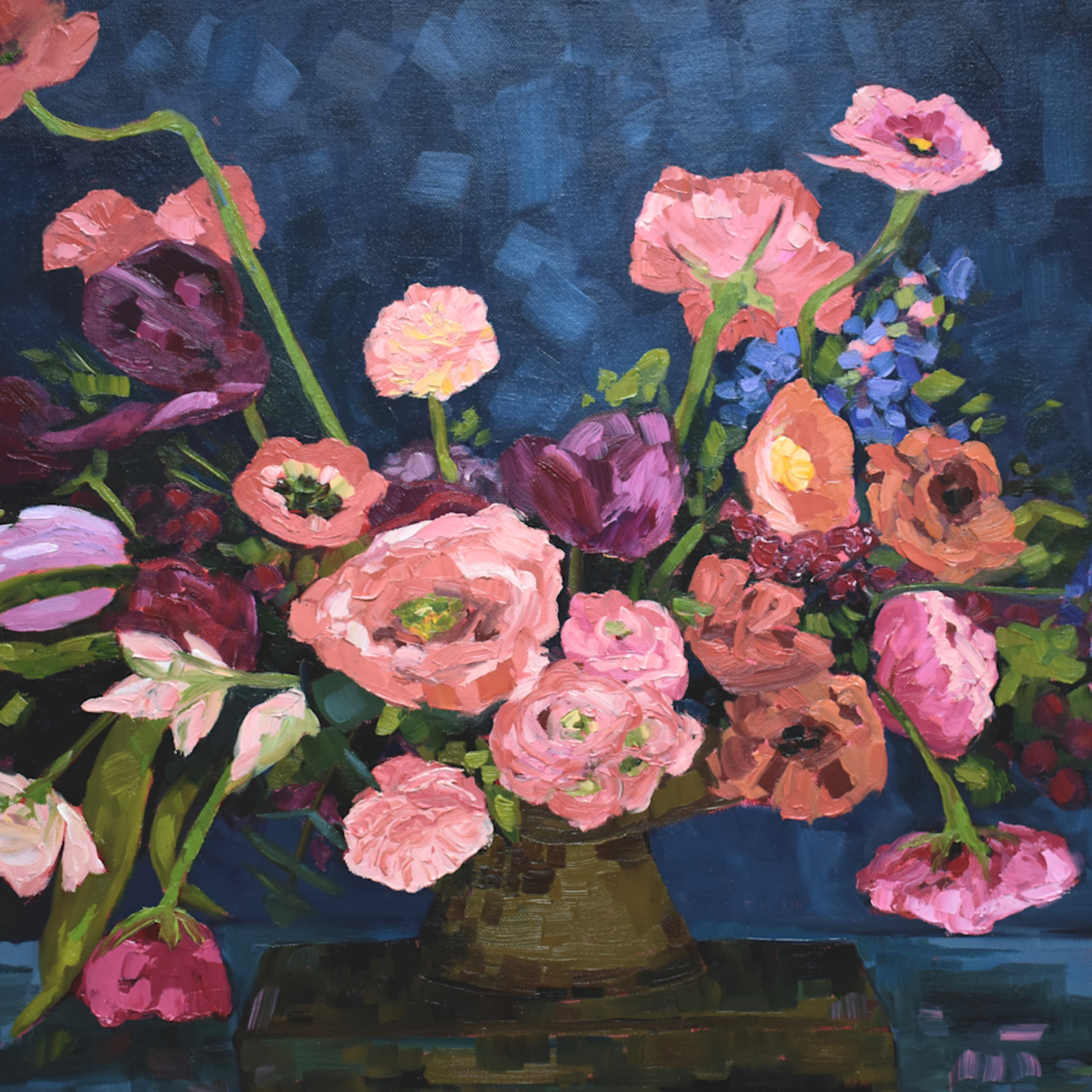 Poppies and ranunculous flowers 30x40 emagtx