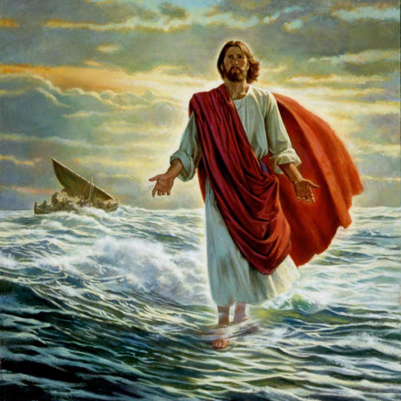 Robert barrett christ walking on the water ofqavq