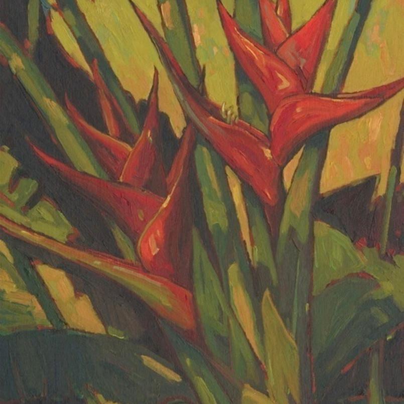 Red heliconia by daryl millard sayzld