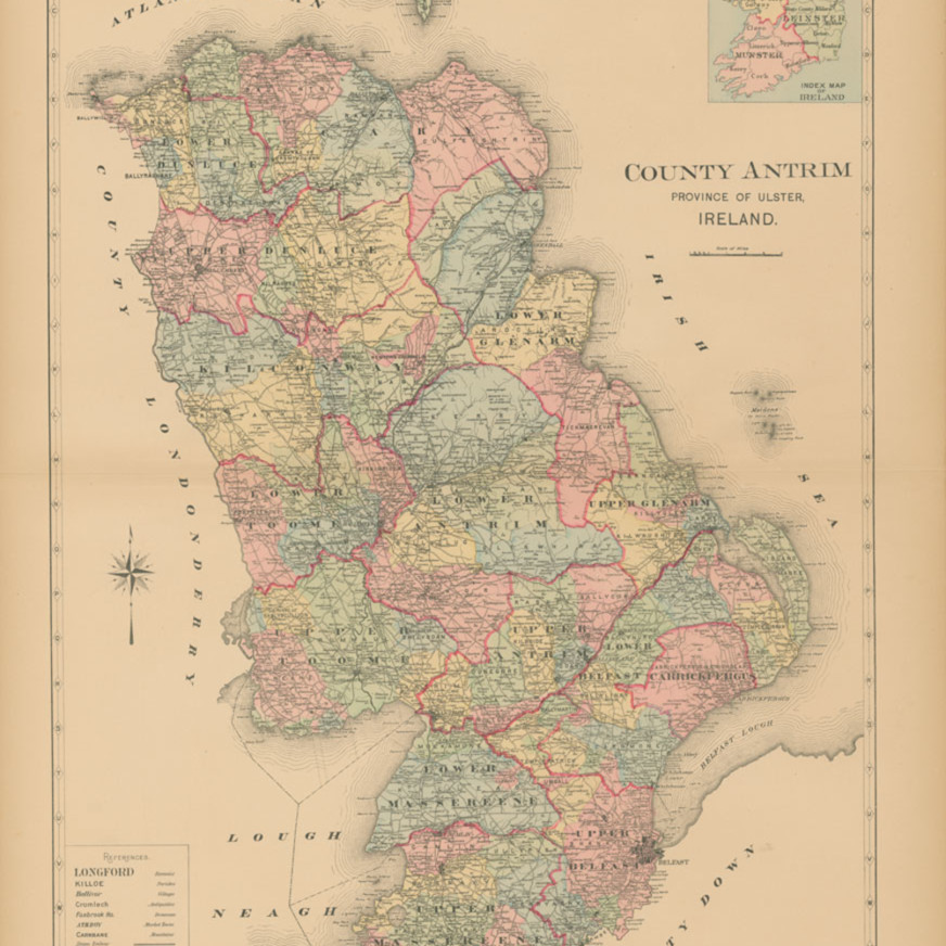 Map of county antrim jc4or0