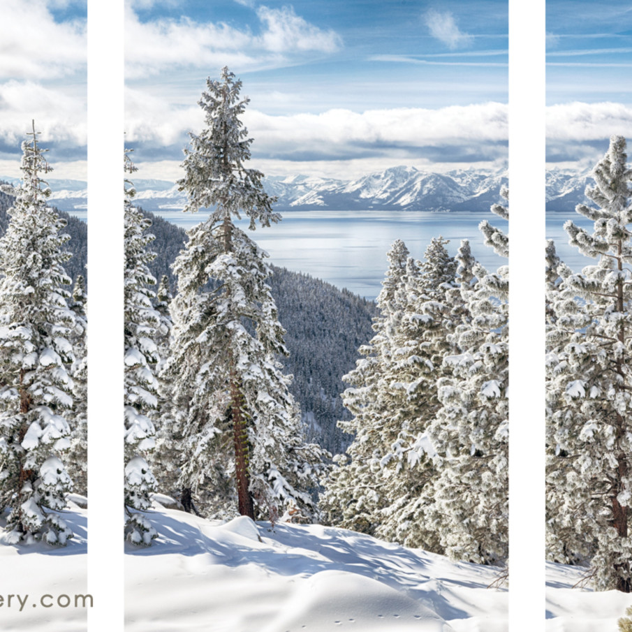 Clearing tahoe storm triptych wkiimg
