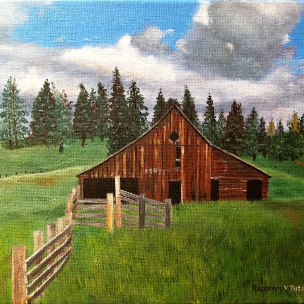 Brown barn landscape tsflji