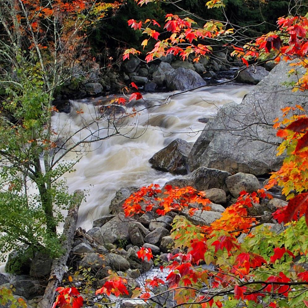 Autumn on the ausable  panoramic    michael sandy utiml2