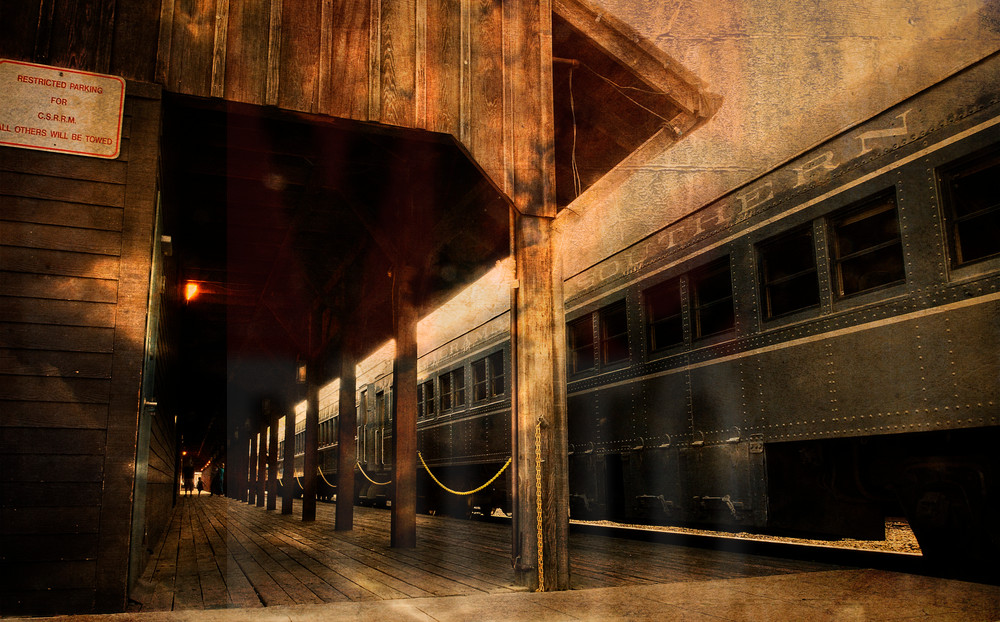 Modern Metallic Railroad Art