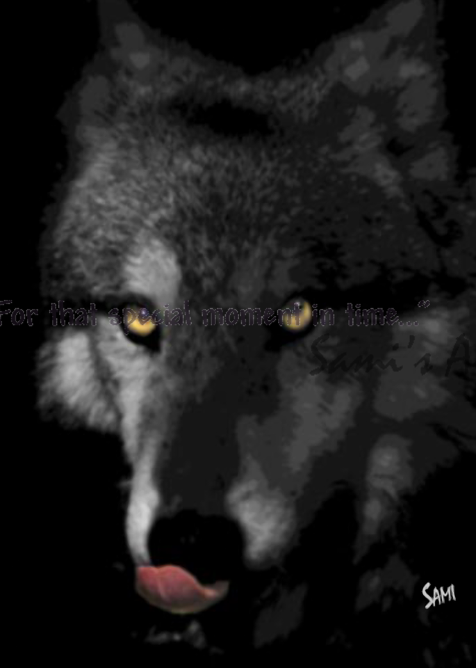 Bright Eyes Wolf Photographic Art for Sale