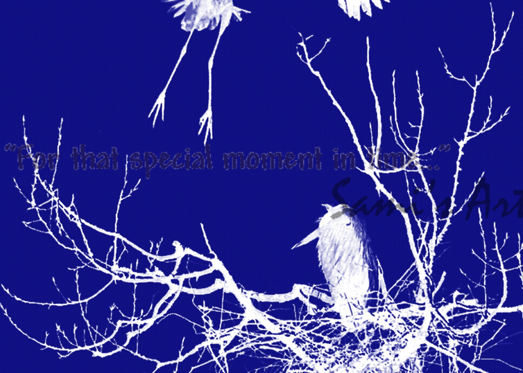 """Blue Herons in Abstract Art for Sale"""