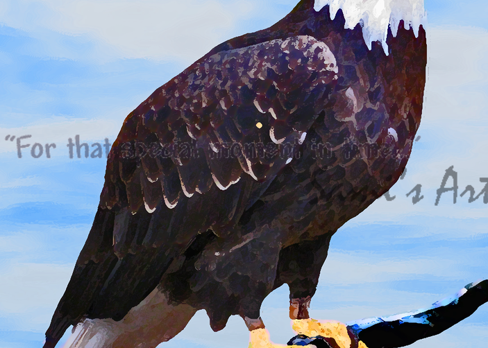 """Eagle Waiting Art for Sale"""