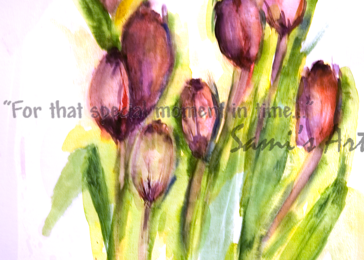 First Tulips In Spring Art for Sale