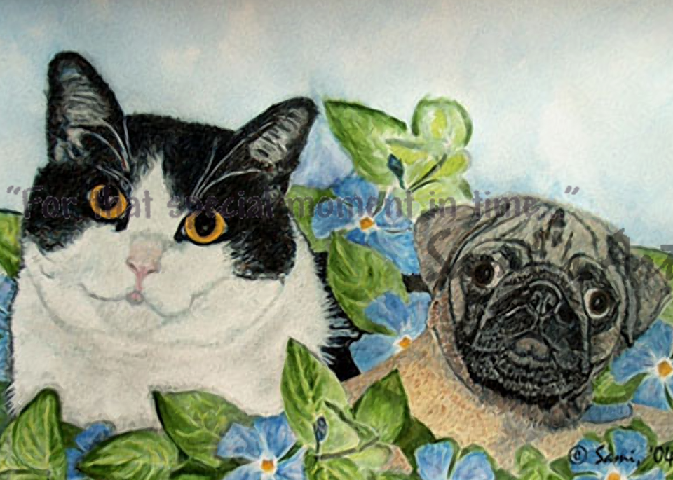 Emmet and Oreo art painting for sale