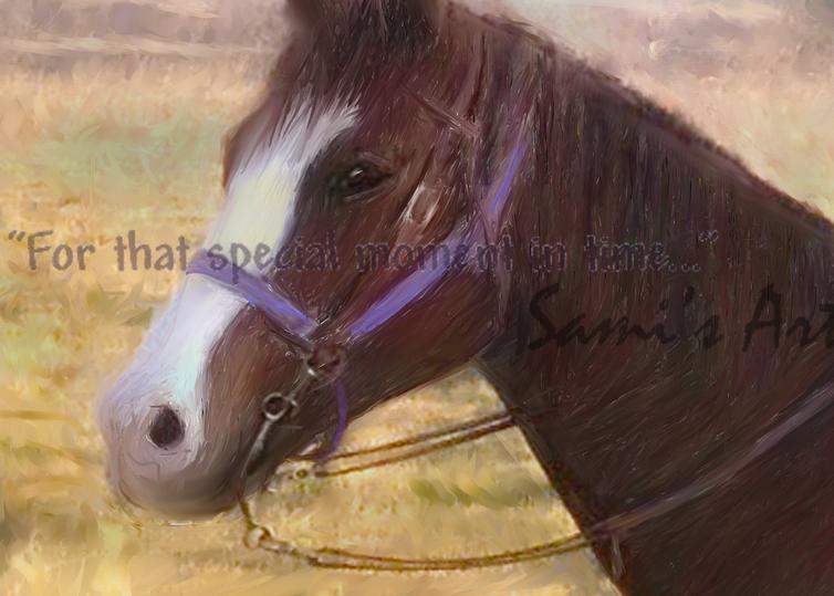A Horse Portrait - Easy art painting for sale