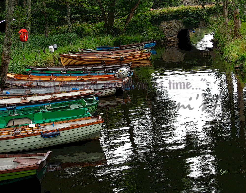 """""""Ross Castle Rowboats Art for Sale"""""""