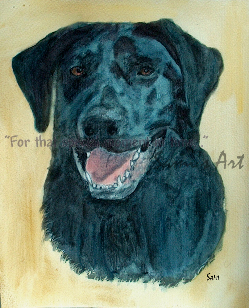 Black Lab Dakota Art for Sale