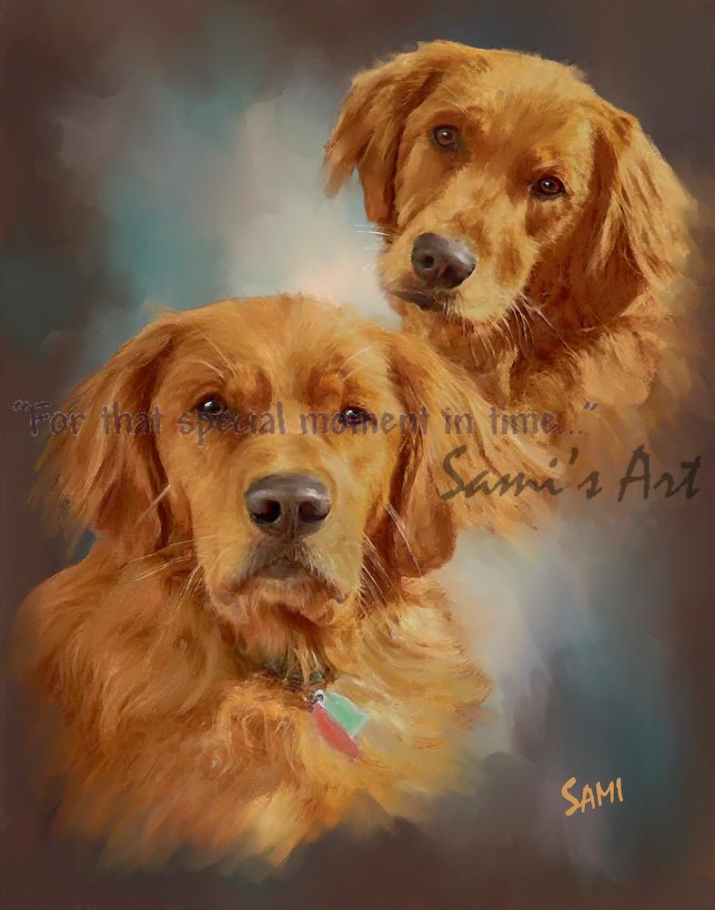 Golden Friends Art for Sale