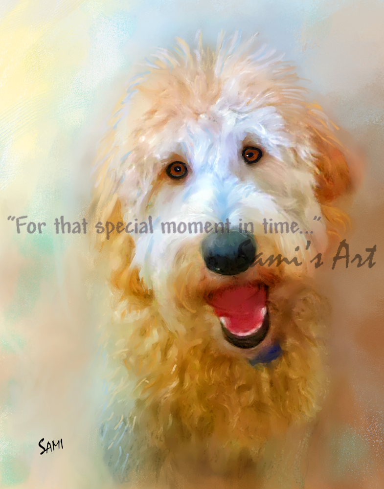 Obie the Goldendoodle Art for Sale