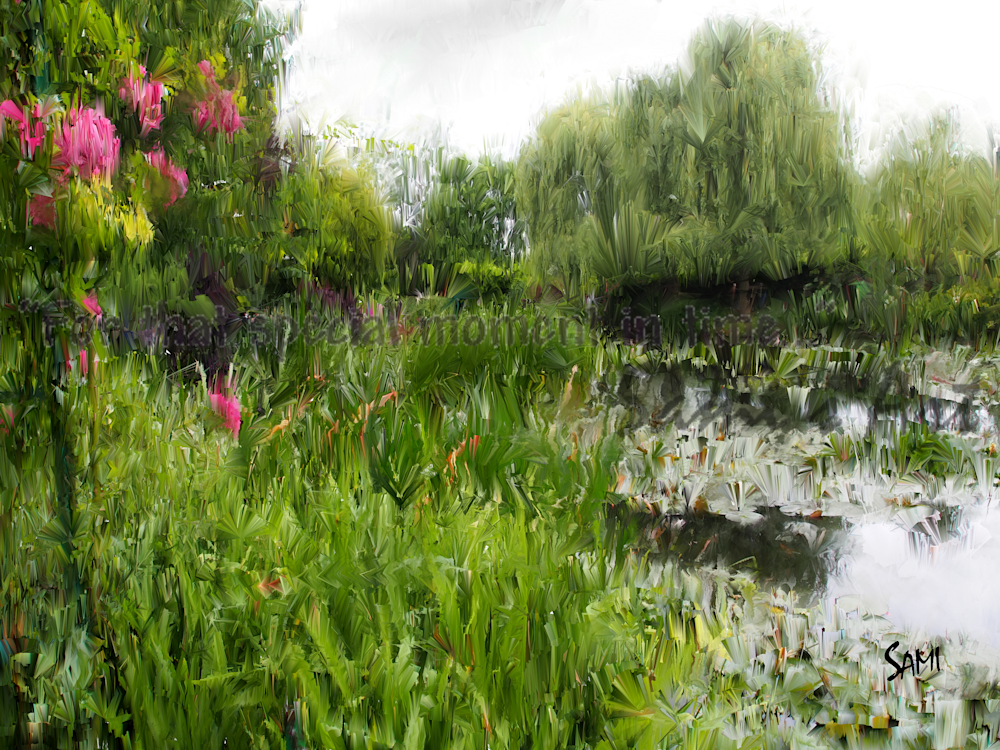The Lily Pond - France - Painting for sale