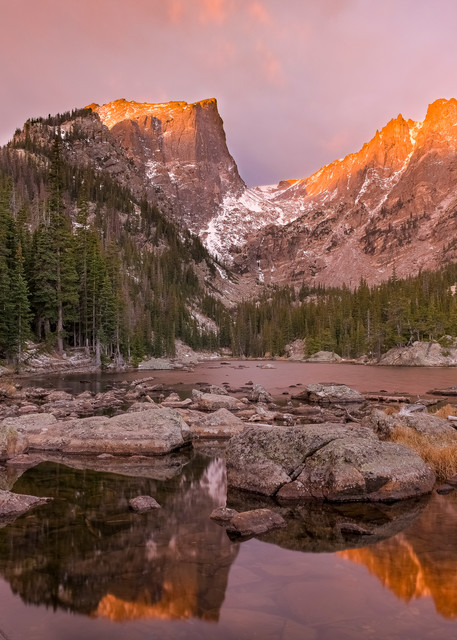 Dream Lake Autumn's First Light Rocky Mountain national Park - Extra Large Prints