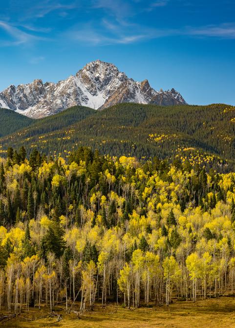 Photograph of the Mt Sneffels Wilderness Colorado Autumn Colors