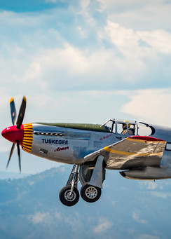 Photo of Tuskegee Airmen P-51C Mustang Taking off at Colorado Airshow