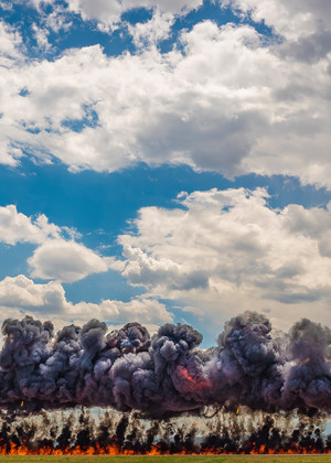 Photograph of F-16 Viper Air Combat Demonstration Team performing Bombing Run