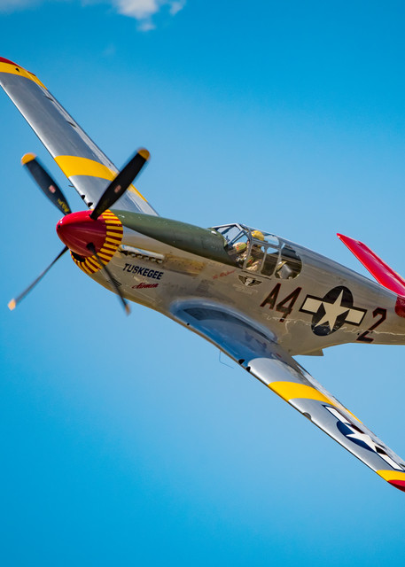 Photo of Tuskegee Airmen P-51C Mustang Low Flyby at Colorado Airshow