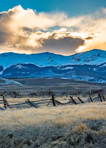 Photo of Mt Elbert Sunset - Twin Lakes Leadville Colorado Ranch