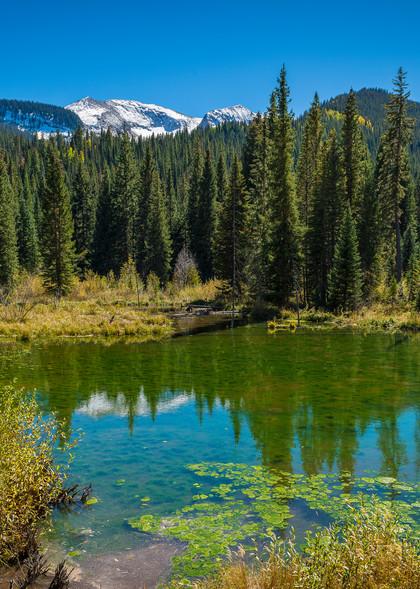 Alpine Ponds off CR12 Crested Butte Colorado - Snow Capped Carbon Peak