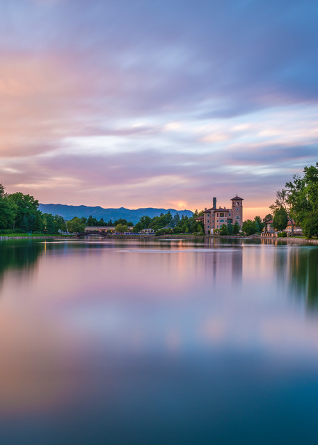 Photograph of The Broadmoor Hotel Lake at Sunset Colorado Springs