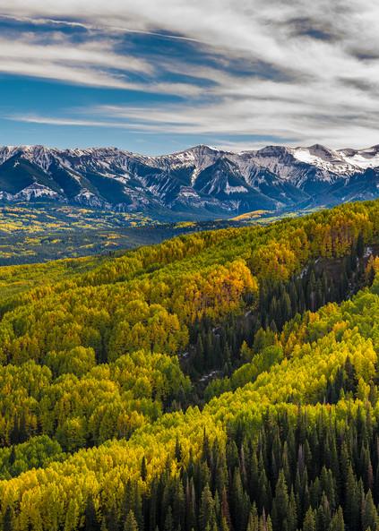 The Castles, West Elk Mountains, The West Elk Wilderness & Golden Aspen Trees