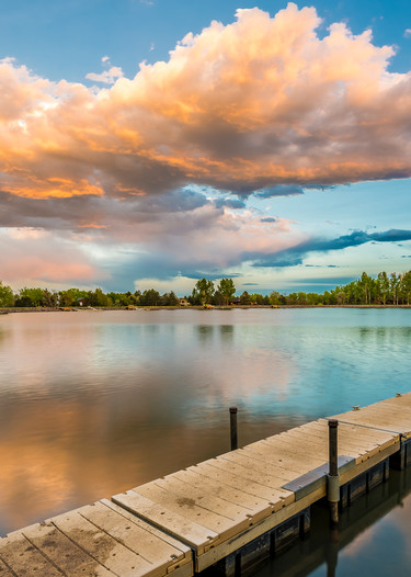 Buy Colorado Photography Prints of Boulder Lake of the Pines Sunset