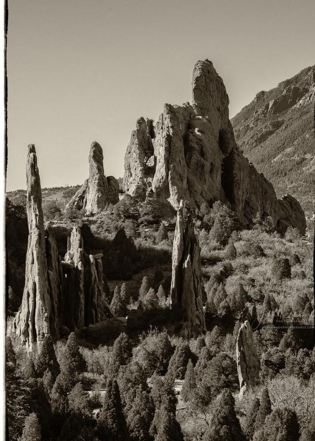 Landscape Photo Garden of the Gods Rock Formations Colorado Springs