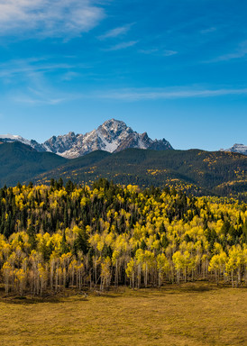 Panoramic Photo of Colorado's Mount Sneffels Range Fall Colors