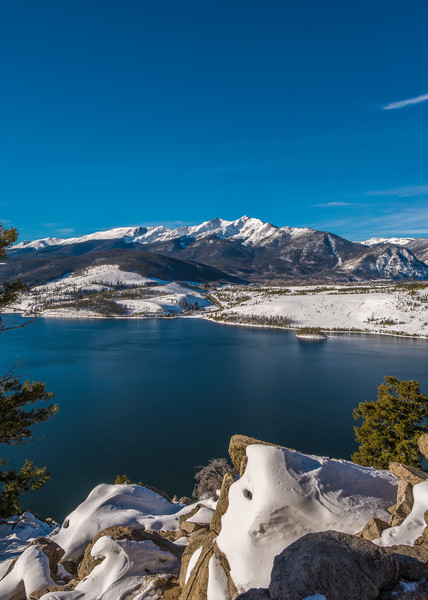 Summit County Colorado Snow At Peak 10 And Lake Dillon Photography Art | The Photography Alchemist, LLC
