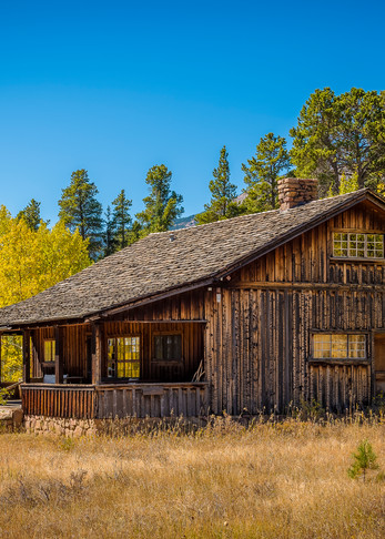 Landscape Photo of Old Weathered Cedar Colorado Ranch Home