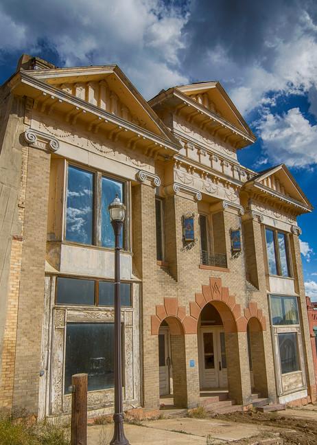 Photograph of Historic Victor Colorado Masonic Lodge