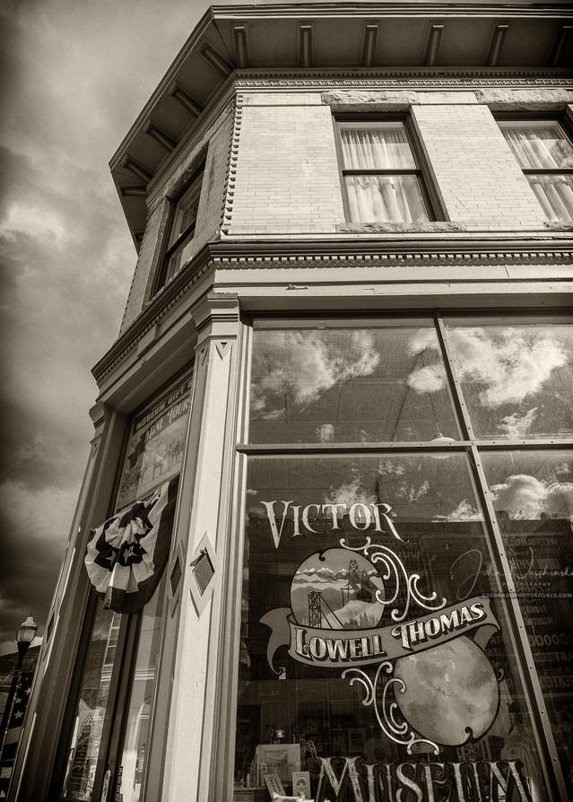 Black & White Sepia Photo Lowell Thomas Museum Victor Colorado