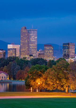 Photo of Denver Colorado Skyline and City Park at Dawn, Prints for Sale