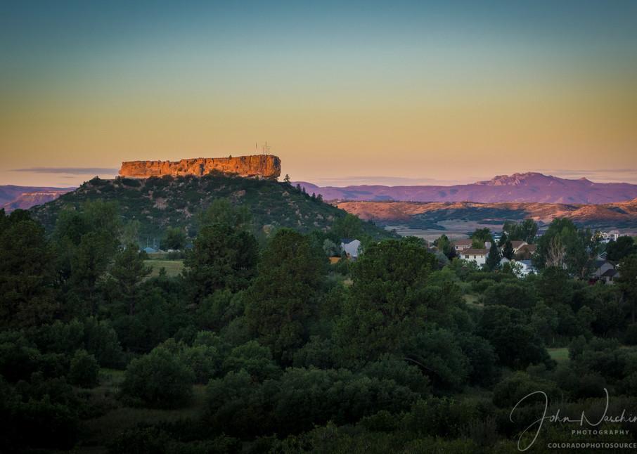 Sunrise Photograph of Castle Rock Colorado Late Summer