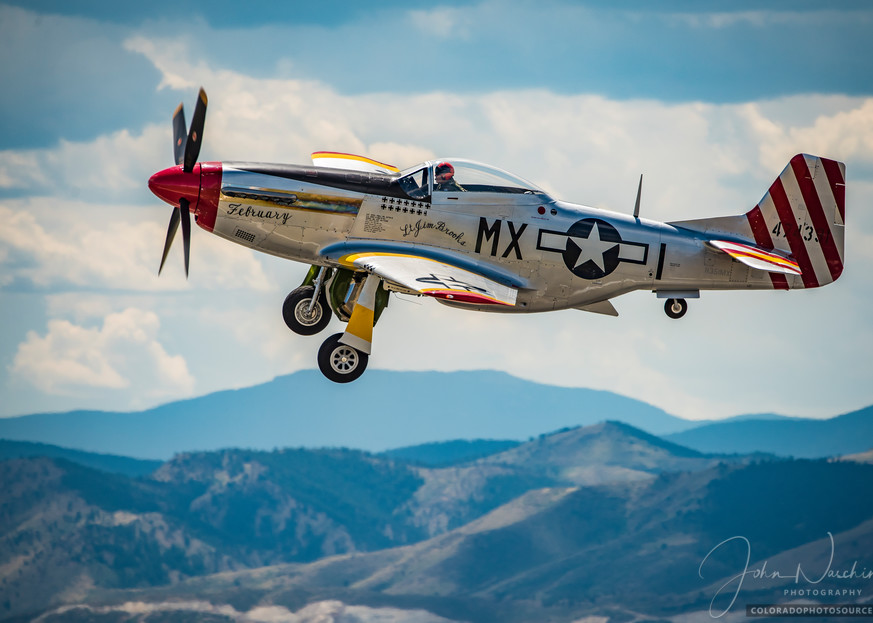 """Photo of P-51D Mustang """"February"""" Performing Flyby Colorado Airshow"""