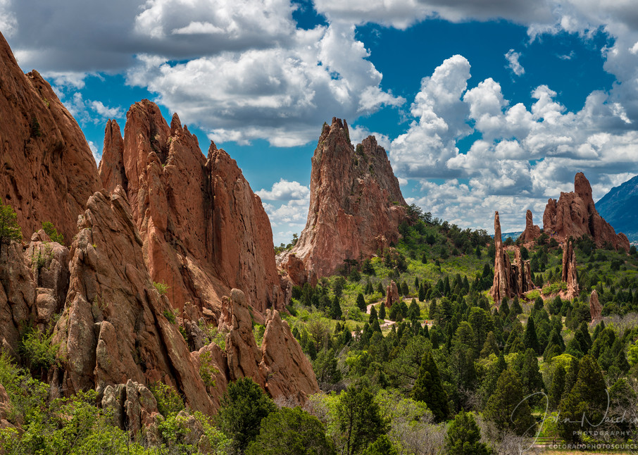 Photograph Colorado Springs Garden of the Gods White Puffy Clouds