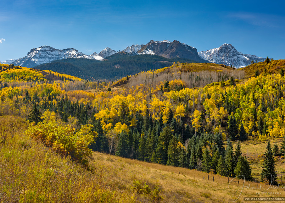 Colorado Pictures for Sale of Mt Sneffels Range - Aspen Trees in Fall