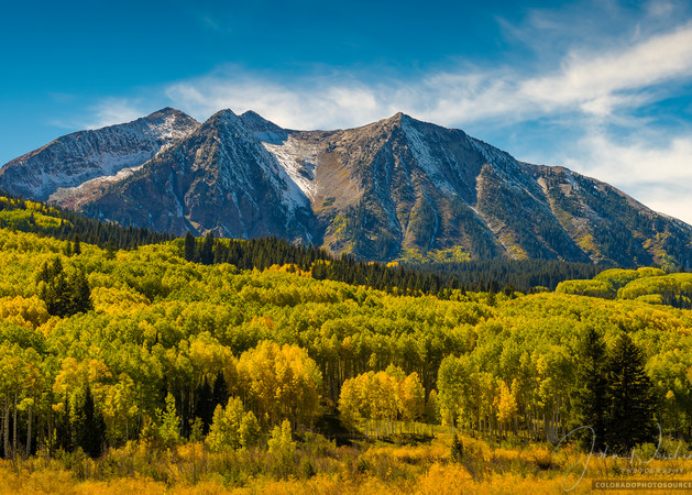 East Beckwith Mountain With Kebler Pass Fall Colors Photography Art   The Photography Alchemist, LLC